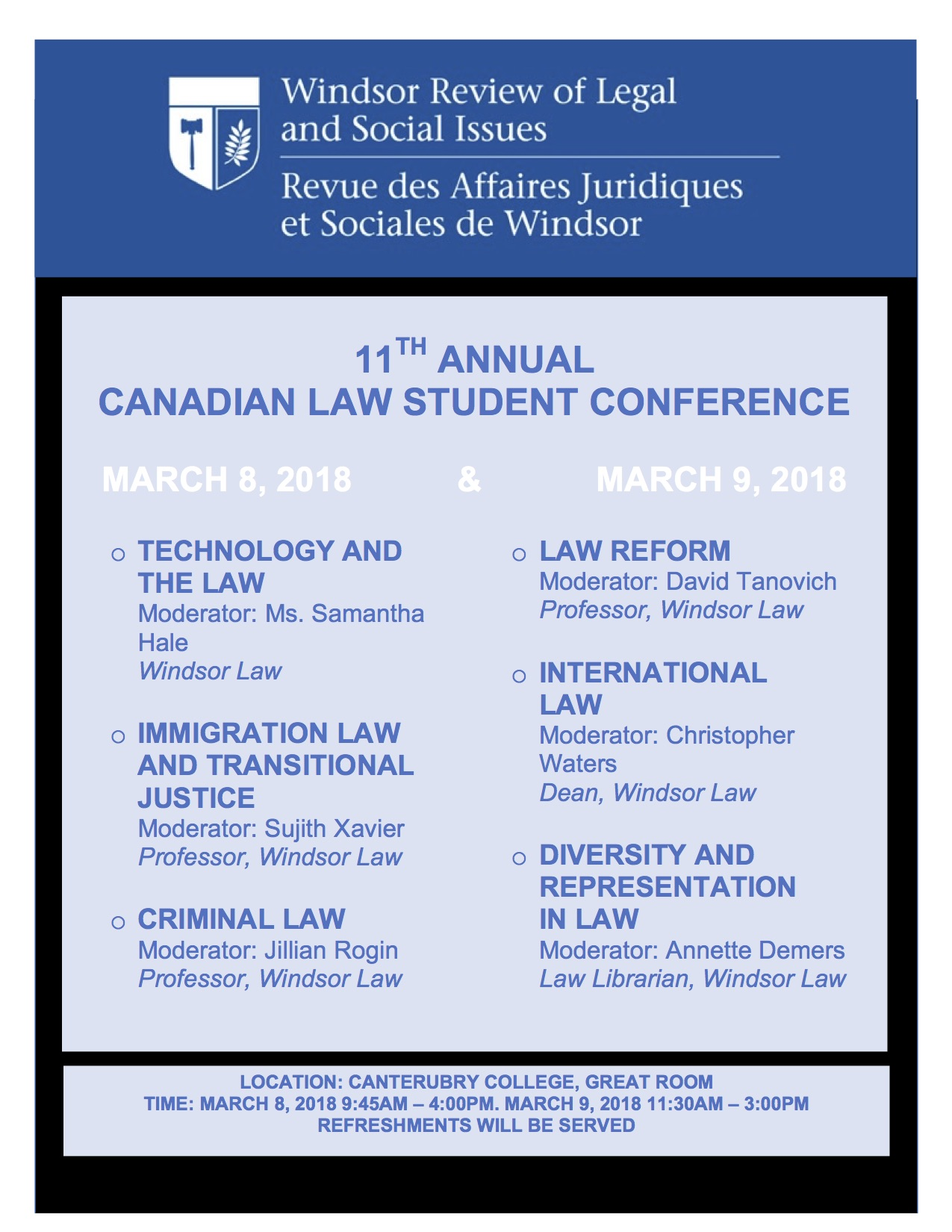 Law Student Conference Poster
